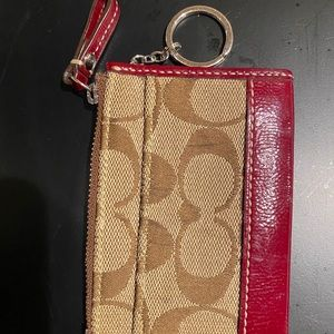 Coach keychain and ID or card holder
